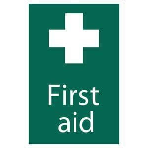 DRAPER 'First Aid' Safety Sign